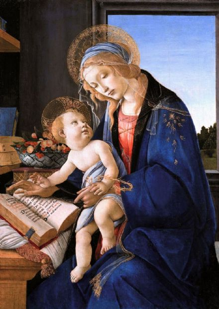 Botticelli, Sandro: Madonna and Child. Fine Art Print/Poster. Sizes: A4/A3/A2/A1 (001881)